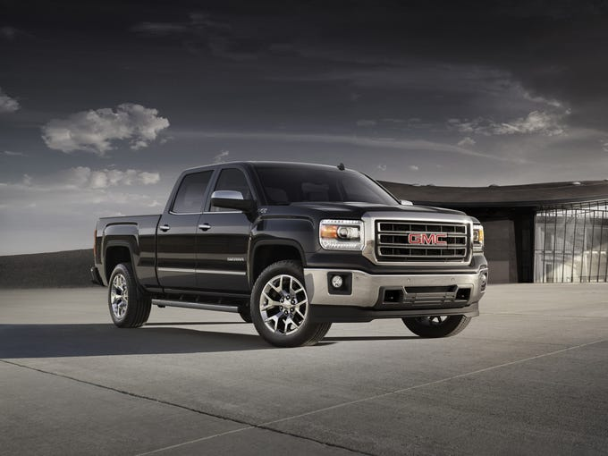 The GMC Sierra 1500, the upscale version of General Motors' redesigned Chevrolet and GMC standard-duty truck line for the 2014 model year.