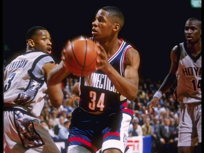 With seven more schools set to leave the Big East, the once-dominant conference now looks nothing like it did in the 1980s, 1990s or 2000s. To celebrate one of college basketball's greatest leagues in history, USA TODAY Sports presents the Top 10 Big East moments.