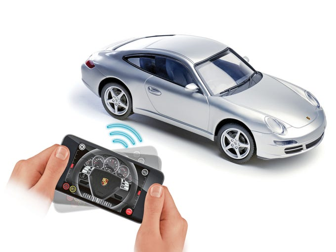 <p><i></i><i></i><i></i><i>Wow your tech-savvy youngster with these must-have gadgets and fun apps offering innovative ways to plug in and play:<br /> </i><br /> SILVERLIT PORSCHE 911 CARRERA: Your child can race this dream machine with revving sound effects and functional lights using an iPod touch, iPhone or iPad as the remote control. Ages 8 and up, $79.95, applestore.com.</p>