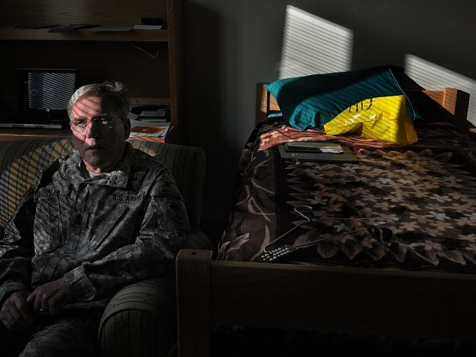 Command Sgt. Major Kuhn receives treatment for PTSD in the Warrior Transition Battalion at Fort Campbell.