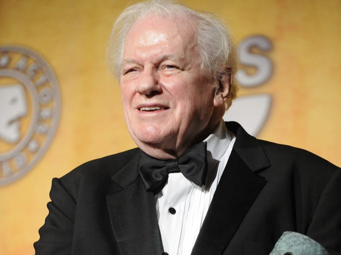 Charles Durning is honored with a lifetime achievement award at the 14th Annual Screen Actors Guild Awards in Los Angeles in 2008.