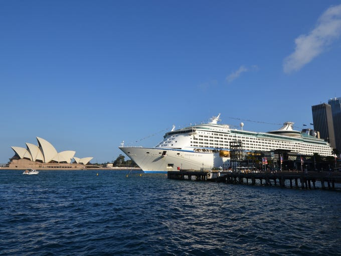 Royal Caribbean's 3,114-passenger Voyager of the Seas is the largest cruise ship ever based in Sydney, Australia.