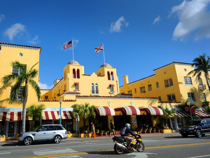 Colorful colonial style is a hallmark of Delray Beach.