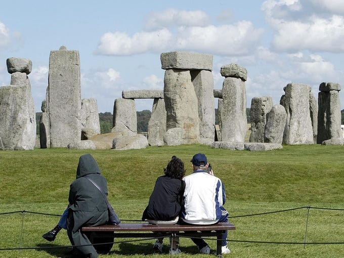Stonehenge, England: This group of mystery stones has been described as mystical and magical. But what you rarely see in the postcards is that Stonehenge is wedged between two very busy roads—and that you're not even allowed to get close to the stones. You'll pay an admission fee, of course, but you'll only be able to view the site from afar. (Tourists used to chip off pieces of the ancient rocks as souvenirs. This is why we can't have nice things, people.)