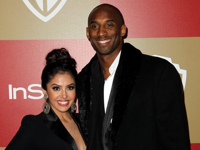 Kobe Bryant and Vanessa Bryant arrive at the InStyle and Warner Bros. Golden Globe After Party at the Beverly Hilton Hotel on Sunday in Beverly Hills, Calif. The two have called off their divorce and are back together.