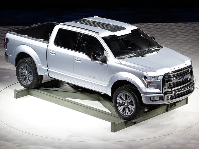 The Ford Atlas concept pickup truck is unveiled on Jan. 15 at the North American International Auto Show in Detroit.