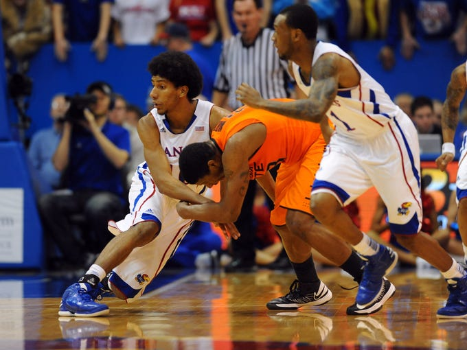Oklahoma State 85, No. 1 Kansas 80 *Upset