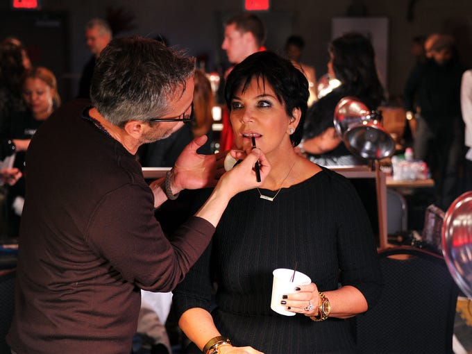 Reality star Kris Jenner gets made up backstage before hitting the runway for the Heart Truth 2013 Fashion Show at New York's Hammerstein Ballroom on Feb. 6. The annual Fashion Week show benefits the campaign aimed at women's heart health.