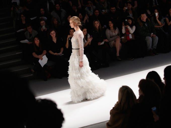 Celeb favorite Tadashi Shoji showed a romantic  collection for Fall 2013 during New York Fashion Week on Thursday.