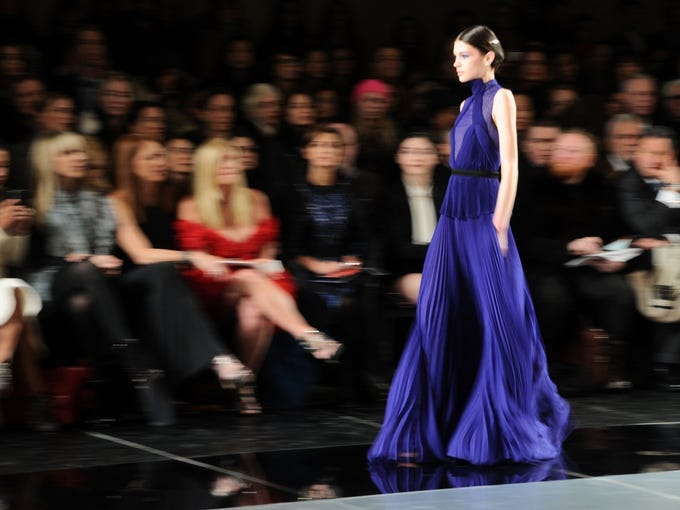 A model wears a design by Jason Wu during his Mercedes-Benz Fashion Week Fall 2013 show on Feb. 8, 2013 in New York.