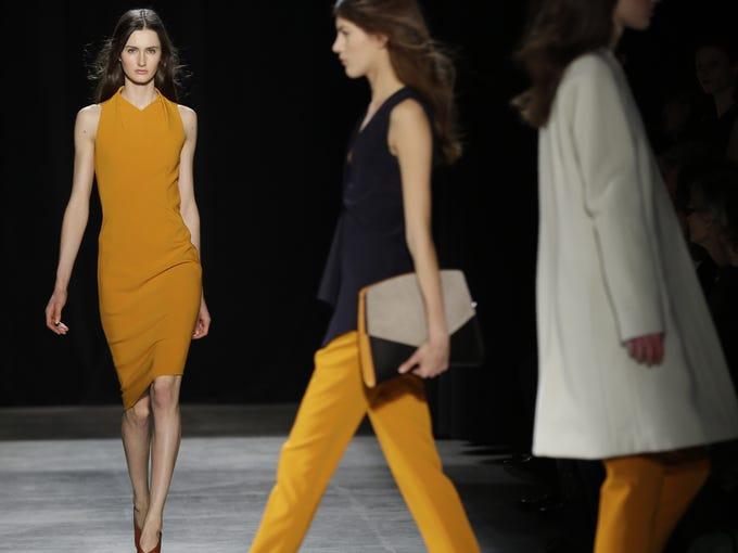 Master of minimalism Narciso Rodriguez ups the architectural ante for fall, focusing on structured silhouettes in hardy hues.