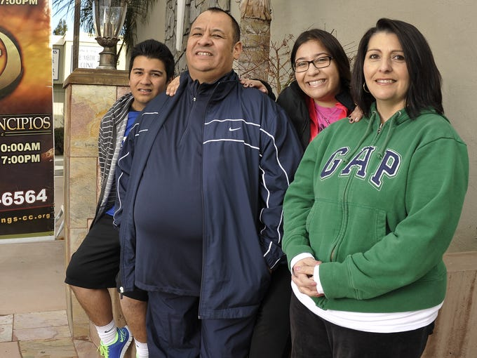 The Ibarra family from San Jose, Calif., is part of the Family Fitness Challenge. From left: Joseph Ibarra, Jose Ibarra Jr., Jocelyn Ibarra and Doris Ibarra.