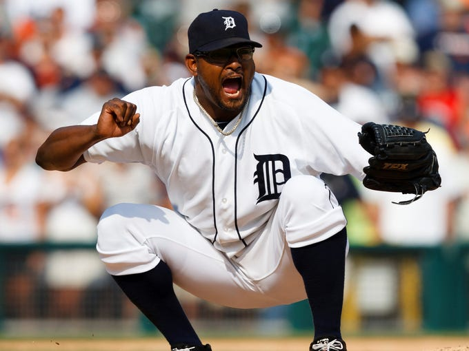 Jose Valverde returns to the Tigers as the closer.