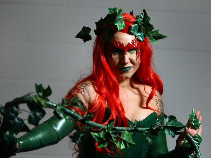 Sharon O'Brien from Wallington, England, poses for a photo at the London Super Comic Convention at the ExCeL Centre on Feb. 23. Enthusiasts at the convention are encouraged to wear a costume of their favorite comic character.