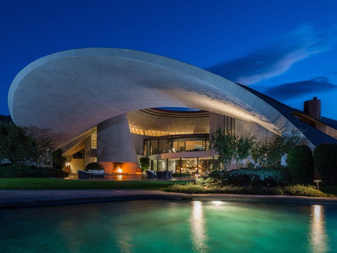 If you're a Bob Hope fan and have $50 million to spare, then you're in luck. Hope's Palm Springs, Calif., residence is for sale.<br /> <br /> Helena Arahuete, the original project architect, reveals a few details.