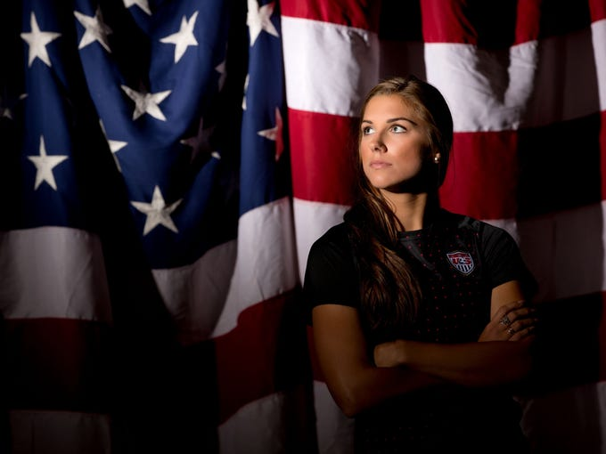 Alex Morgan poses for a portrait  before the 2012 London Olympics. Morgan was a part of the U.S. team that beat Japan in the Olympic final to win gold.