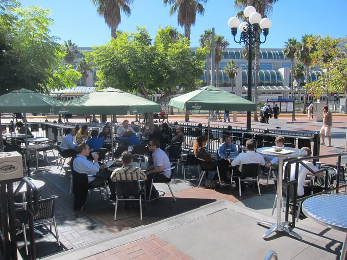 Tin Fish is centrally located for visitors and locals alike with a lively outdoor dining area in the heart of downtown.