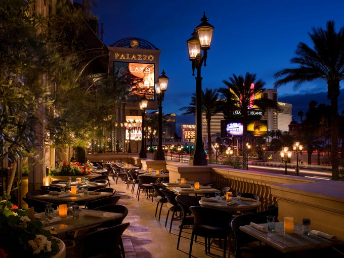 OpenTable.com, the restaurant reservations network, has named its hottest 100 U.S. restaurants, and 11 of them happen to be at hotels. This is LAVO at The Palazzo, Las Vegas.