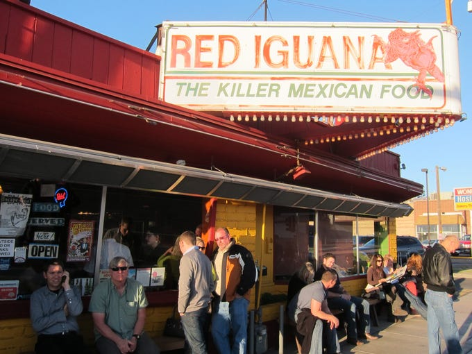 Dinner at the Red Iguana in Salt Lake City almost always means a wait for a table. It's very popular with locals.