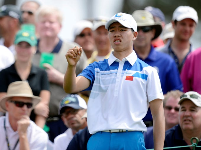 Guan Tianlang of China wowed the crowd Thursday with a first-round 73. He's 14, the youngest competitor ever at the Masters.