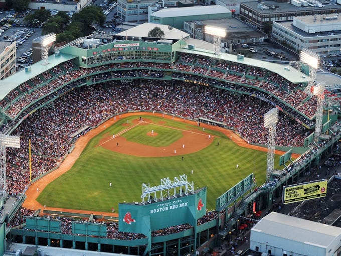 Fenway Park, Boston Red Sox. Opened in 1912.