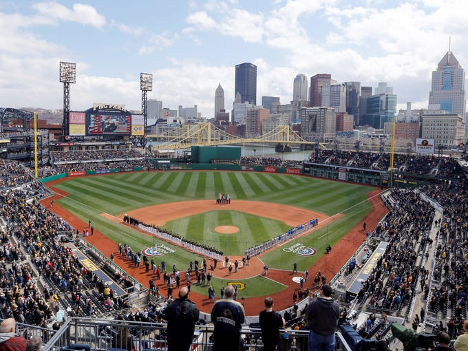 PNC Park, Pittsburgh Pirates. Opened in 2001.