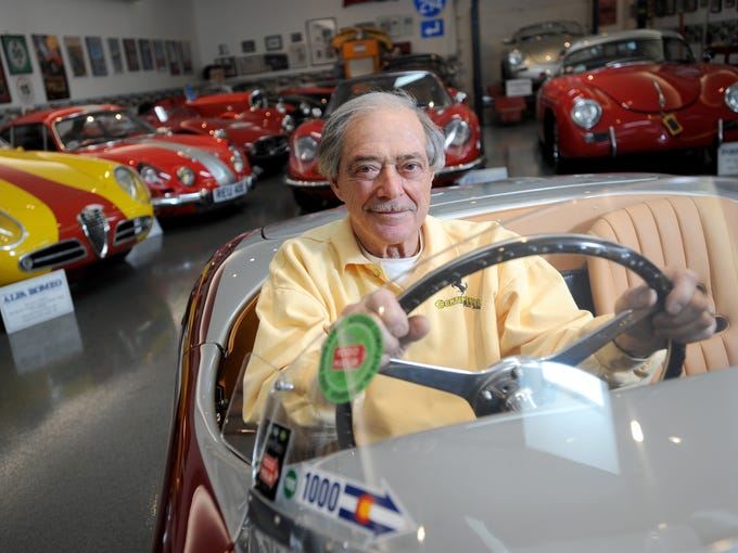 John Weinberger, 80, president and CEO of Continental Motors Group, sits in his 1953 Ferrari 166 Vignale Spyder in the 3,500-square-foot garage at his home in the western suburbs of Chicago.