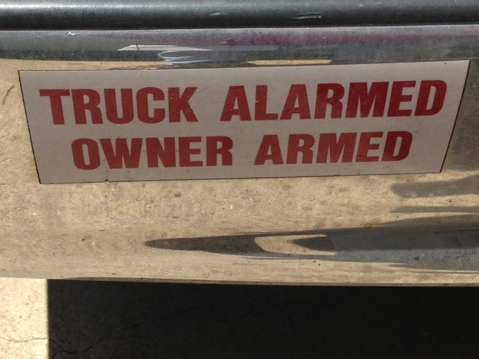 No one will mess with this truck owner