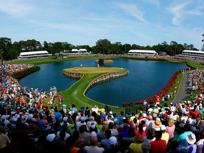 The 17th hole at TPC Sawgrass at The Players Championship, a 137-yard par-3, demands one of the most unnerving shots in golf.