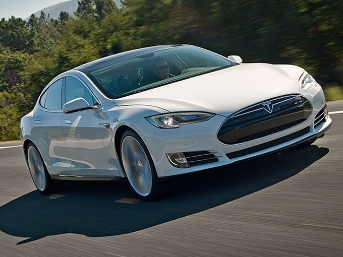 Tesla says the regular Model S can sprint from zero to 60 miles per hour in 5.4 seconds and has a top speed of 125 mph.