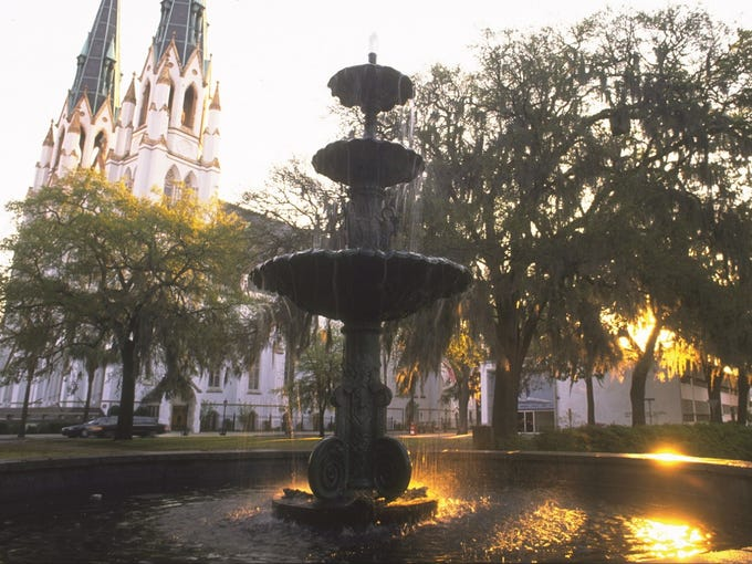 Looking for an unusual Mother's Day gift? Consider taking Mom on a trip. Moms will love Savannah's Southern charm, says National Geographic author Marybeth Bond. 'It's a beautiful city to walk around with 100-year-old live oak trees and blossoming magnolias. You'll never get to all the squares, which are postage stamp parks.'