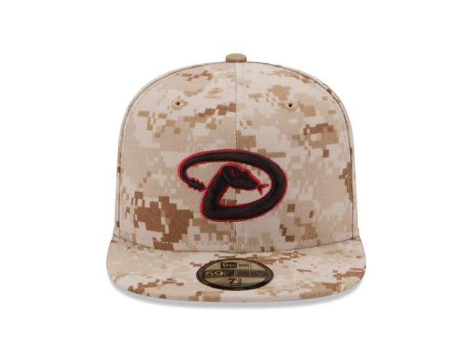 Players will be wearing specially-designed hats for games played on Memorial Day, the first in a series of three, with others coming out around July 4th and September 11. The 30 caps -- Arizona Diamondbacks