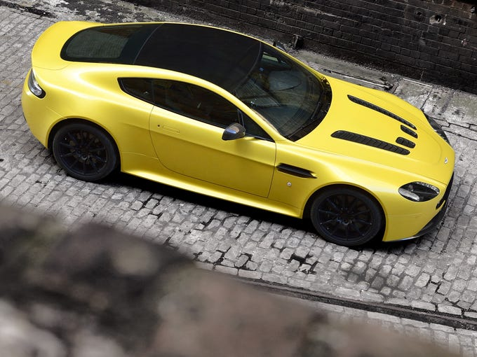The new V12 Vantage S looks good from the top