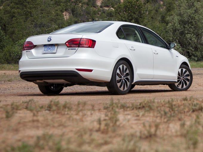 Volkswagen's first hybrid, a version of the Jetta, sedan.