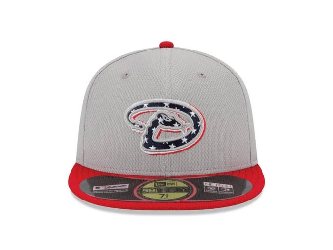 Players will be wearing specially-designed hats for games played on the Fourth of July, the second  in a series of three, with final one coming out September 11. The 30 caps -- Arizona Diamondbacks