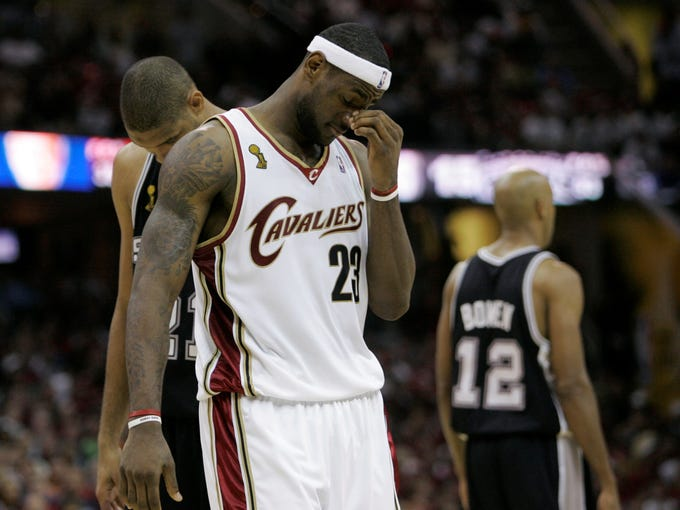 A look back at Lebron James in the 2007 NBA Finals