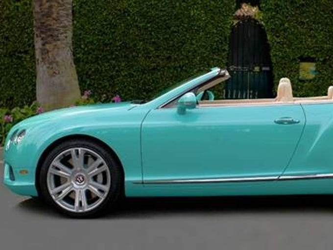This is the Bentley that TV's 'Bachelorette Desiree Hartsock is driving