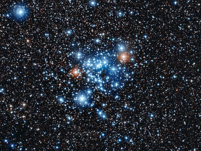 A group of young stars, an open star cluster NGC 3766, in the constellation of Centaurus (The Centaur).