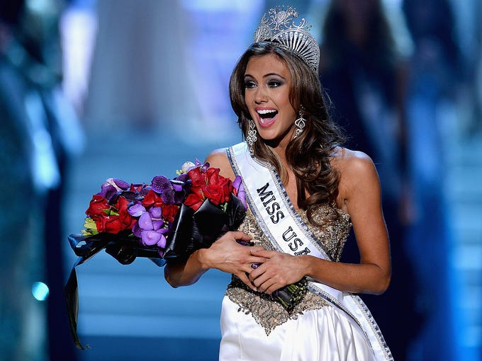 Miss Connecticut Erin Brady reacts after being crowned Miss USA during the 2013 Miss USA pageant at Planet Hollywood Resort and Casino on June 16 in Las Vegas.