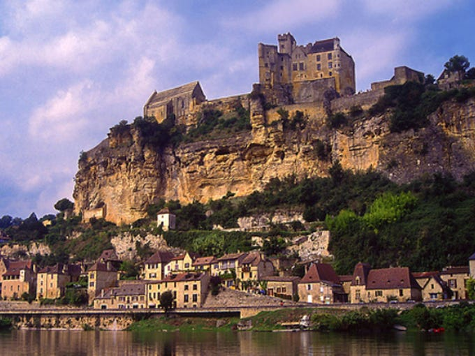 France's Dordogne Valley, between Argentat and Beynac: Cycling expert Ron Van Dijk, who also directs European operations for Austin-Lehman Adventures, loves this region for its authenticity, peace, great food, old Romanesque churches, castles and history.