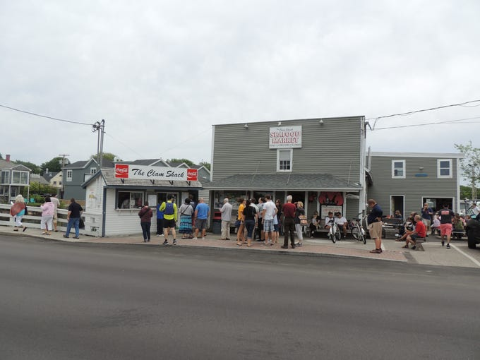 There is usually a line at the Clam Shack, which sits on the waterfront in downtown Kennebunkport, Maine. Next door is its sibling seafood market and a handful of picnic tables.
