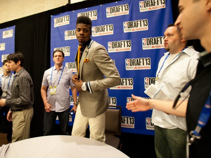 Nerlens Noel may be the No. 1 pick in Thursday's NBA draft, but for now he's still auditioning. USA TODAY Sports spent exclusive time with him as he explored New York in the days leading up to the draft.