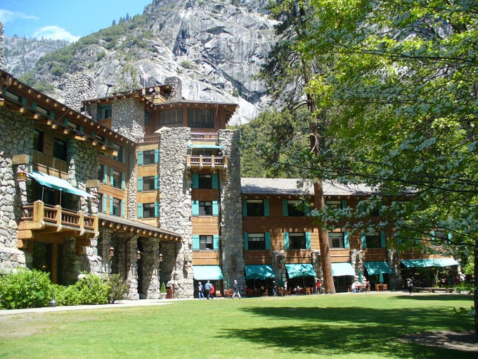 Of nearly 90 national park lodges in the USA, here are five that can reasonably be called 'luxurious' when compared with other park lodging facilities. Though hardly comparable to a Ritz Carlton or Four Seasons, they are certainly in the upper-echelon of park lodges in terms of service, amenities and price. Here, Ahwahnee in Yosemite Valley.