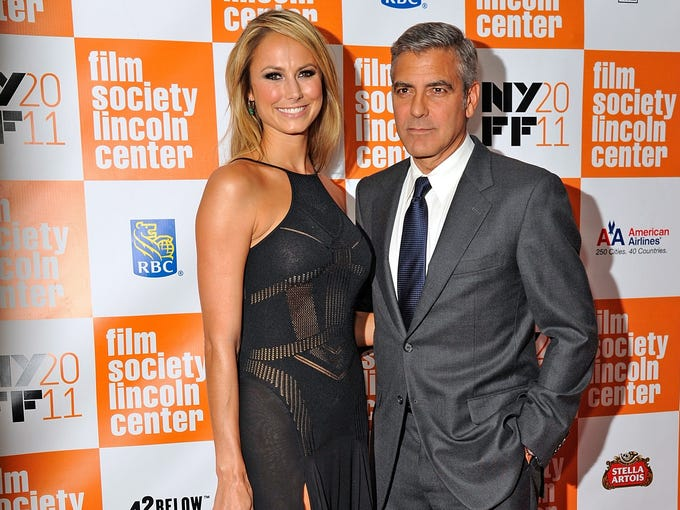 Since George Clooney and Stacy Keibler are no more, we're looking back at the way they were, starting with their first date: After bringing her to the Toronto Film Festival, George Clooney publicly escorted Stacy Keibler to the NYC premiere of 'The Descendants' in October 2011. The romance was on.