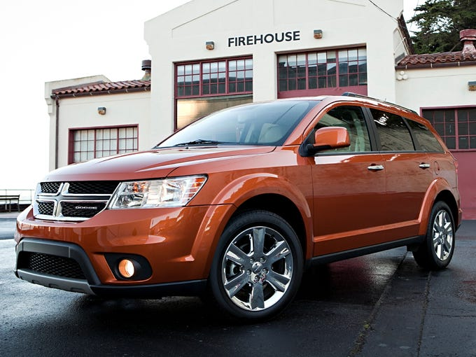 No. 1 least-popular 2010 to 2012 vehicle for thieves:Dodge Journey four-wheel drove (2011 shown).