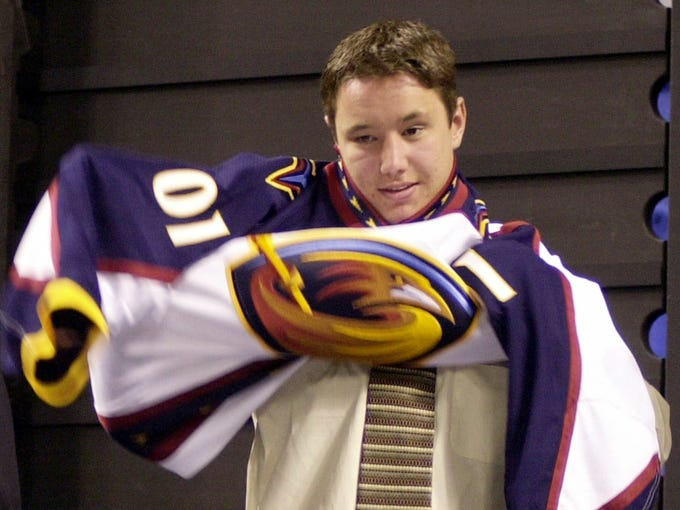 Ilya Kovalchuk was selected with the No. 1 pick in the 2001 draft by the Thrashers, becoming the first Russian to ever go first overall.