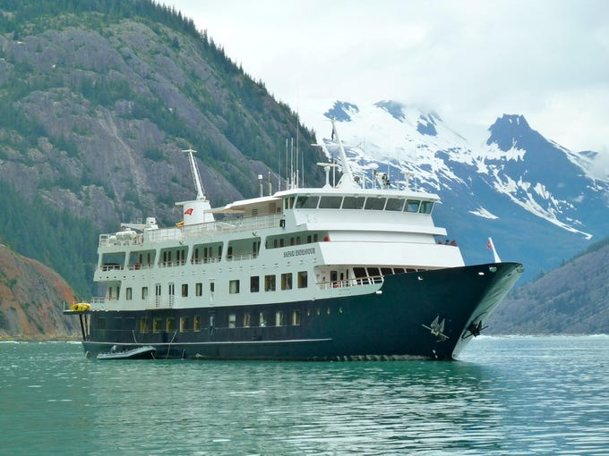 The handsome Safari Endeavour is operated by Seattle-based Un-Cruise Adventures.