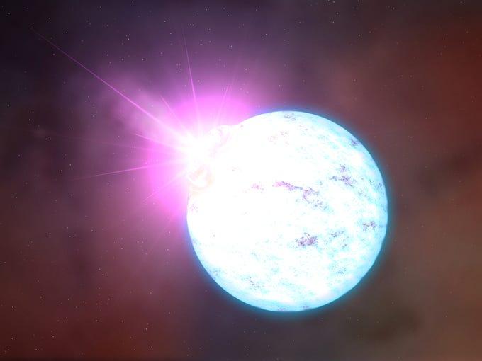 Illustration of a neutron star.