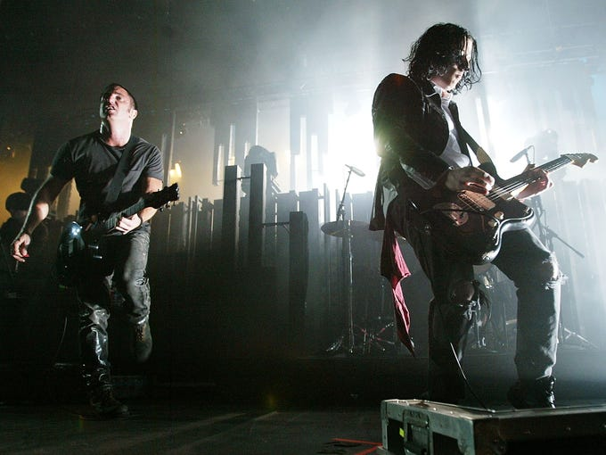 Nine Inch Nails has released four different covers for its upcoming album, 'Hesitation Marks,' out Sept. 3. Check out the Russell Mills-designed artwork here.