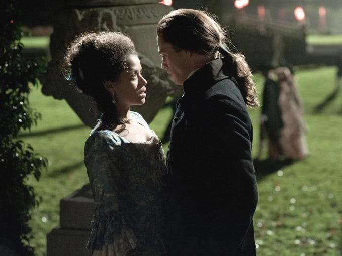 "At its heart, 'Belle' is a love story. Dido's (Gugu Mbatha-Raw) love affair with John Davinier (Sam Reid) starts out rocky, especially since Davinier is below her social status. ""There is this struggle before they can admit their love for each other,"" says director Amma Asante. ""But they find it's very difficult to stay apart from each other."""